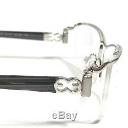 ESCADA Eyeglass Frames Rectangular Silver Black Semi Rimmed VES519 COL. 589 140
