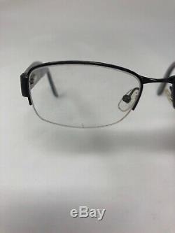 ESCADA VES765S COL. 0568 Eyeglasses Frame Italy Half Rim 52-17-140 Silver BS98