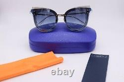 Emilio Pucci Blue Cat Eye Sunglasses Frame 66-15-140 NWT