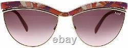 Emilio Pucci EP 10 75Y Pink Gold Plastic Cat Eye Sunglasses 61-15-135 EP0010