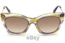 Emilio Pucci EP 109 Brown MultiColor Mix 41F Cat Eye Sunglasses 55-19-145 EP0109