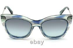 Emilio Pucci EP109 Green Multi Color Mix 92W Cat Eye Sunglasses 55-19-145 EP0109