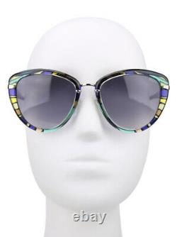 Emilio Pucci EP11 92B Purple Multi Color Cat Sunglasses Frame 56-19-135 EP0011