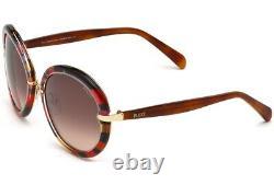 Emilio Pucci EP12 77F Red Multi Colored Round Sunglasses Frame 57-19-135 EP0012