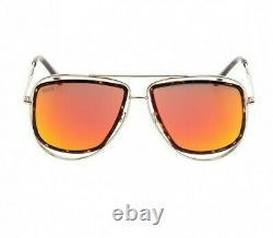 Emilio Pucci EP3 44U Mirrored Gold Aviator Sunglasses Frame 58-15-135 EP0003