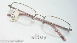 Eschenbach Stable Titanflex-Brille half Rim Elastic Silver Brown
