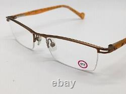 Etnia Barcelona Lisboa Glasses Col. Ogs half Rim Silver Orange Size M 1990er