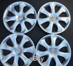 FOUR 16 MAZDA 3 SEVEN SPOKES 14-16 Silver HubCap Wheel Cover Rim Cover 56557