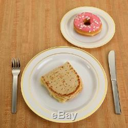 Finest Cutlery Heavyweight Disposable Wedding Party Plastic Plates 240 pack WOW