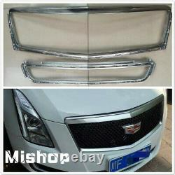 For Cadillac XTS Grill Covers 2013-17 Front Grille Rim Trim Outer Frame Silver