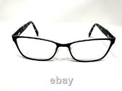 Furla Eyeglasses Frame VRU 071K 0583 54-16-140 Black Full Rim Flex Hinge KW82