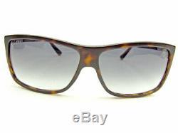 GUCCI Sunglasses Glasses Side Logo Full Rim Black x Brown x Silver Authentic
