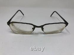 Giorgio Armani Eyeglasses Frame 1045 1285 52-19-140 Gunmetal Half Rim Italy Li54