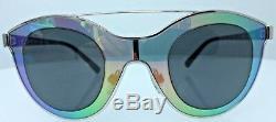 Giorgio Armani Full Rimmed Silver / Black Women's Sunglasses AR 6033 3015/87