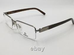 Glasses Silver Rodenstock 2172 Titanium half Rim Light Rectangular Size M New +