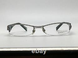 Glasses Vintage Alain Mikli AL0656 0003 Black Silver half Rim Size M 90er