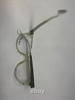 Gucci Eyeglasses Frames GG 3742 2G2 Clear Silver 53-16-140 Italy Full Rim KB69