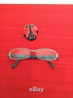 Gucci Eyeglasses GG 1867 AOI Silver/Horn Rim Designer Frame Italy 55-16 135