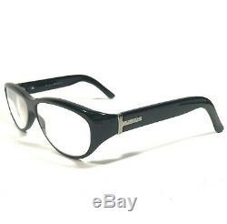 Gucci Eyeglasses Glasses Frames Black Oval Silver Full Rimmed GG2503 807 130