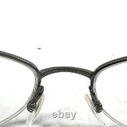 Gucci GG2718 SE4 Sunglasses Eyeglasses Frames White Silver Logo Round Half Rim