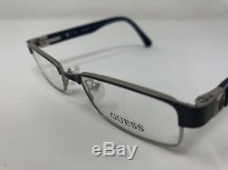 Guess Eyewear Eyeglasses Frame GU9061 BLSI 46-16-130 Blue/Silver Full Rim AI93