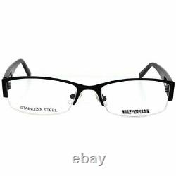 Harley Davidson HD518 001 Black Half Rim Optical Eyeglasses Frame 54-18-135 AB