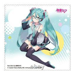 Hatsune Miku MIKU-004 Under Rim PC Glasses silver ver Blue Light cut NEW