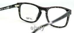 J. F. REY JF1369 0010 Black Silver Rectangular Full Rim Eyeglasses 52-19-143