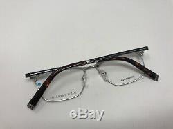 JOHN VARVATOS Eyeglasses V157 Silver 53-17-145 Metal Horn Rim Frame Japan RK70