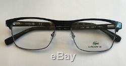 Lacoste Eyeglasses L2198 001 Black/Silver Full Rim Frame 55-18-145