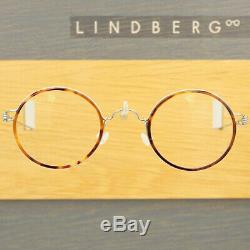 Lindberg Air Rim Harley Silver Tortoiseshell Round Eyeglasses Spectacle Frames