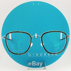 Lindberg Rim Titanium Simon Silver Blue Tortoise Eyeglasses Spectacle Frames