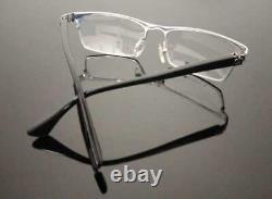 Luxury men Eyeglass metal Frame Full Rim Glasses Silver Black 003-CH