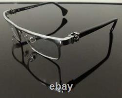 Luxury men Eyeglass metal Frame Full Rim Glasses Silver Black 005-CH