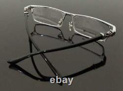 Luxury men Eyeglass metal Frame Full Rim Glasses Silver Black 008-CH
