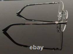 Luxury men Eyeglass metal Frame Half Rim Glasses Silver Black Cart Metal
