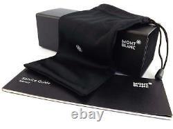 MONT BLANC Glasses Frame 56mm Men's Spectacles Ruthenium / Black MB0530 016
