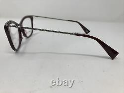 Marc Jacobs Eyeglasses Frames 167 LHF Burgundy Silver 55-16-140 Dull Rim T297