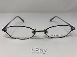 Marchon Eyeglasses Frame M709 048 47-17-135 Navy/Silver Full Rim E570