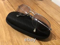 Matsuda Aviator Sunglasses 10680 Half Rim Lenses Silver And Black Made In Japan