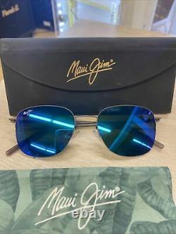 Maui Jim MJ 824-02s Crater Rim Sunglasses Blue Hawaii Polarized Lenses