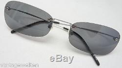 Men's Sunglasses without Rim Titanium Glasses Grey Plastic Glasses Sporty Size L