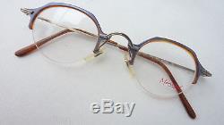 Menrad Small Men Glasses New Pantoform Frame Very Light half Rim SIZE S