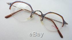 Menrad Small Men's Glasses with Pantoform Silver Lightweight half Rim Size S
