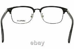 Mont Blanc MB0043O 005 Eyeglasses Men's Black/Silver Full Rim Optical Frame 55mm
