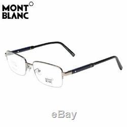 Mont Blanc MB0689-D 012 Silver Titanium Semi Rim Eyeglasses 56-18-145 MB 689D