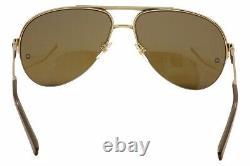 Mont Blanc MB457S 28J Gold Semi Rim Aviator Sunglasses 61-15-140 MB 457S Zeiss