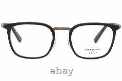 Morel OGA 10146O ND01 Eyeglasses Men's Black/Silver Full Rim Optical Frame 52mm