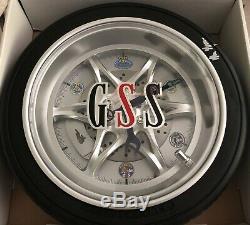 Mr. Norms Tire Rim Clock AUTOGRAPHED
