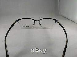 NEW! BURBERRY Eyeglasses B 1323 1014 5418 145 Half Rim Matte Silver B1323